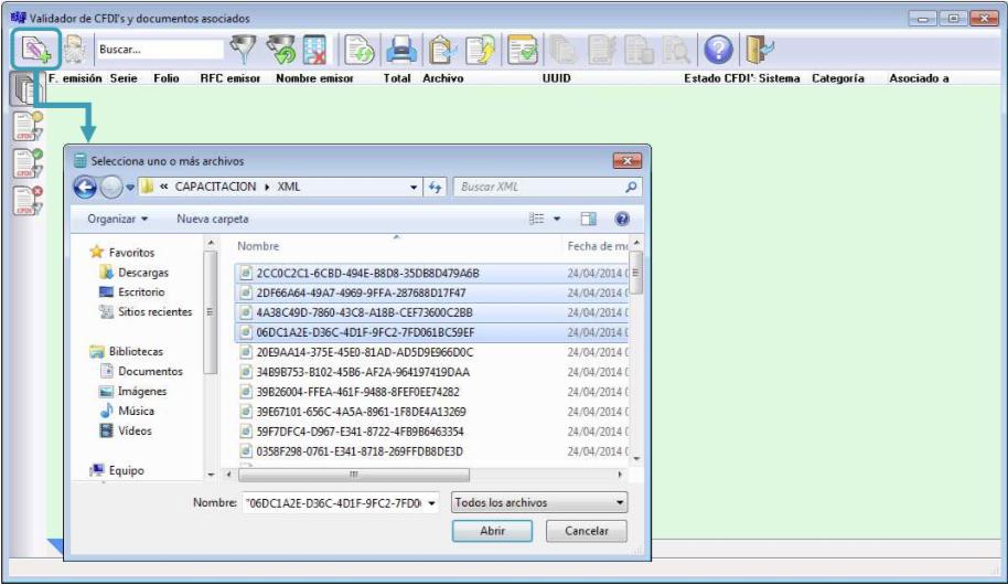 Además, administra fácilmente los CFDI asociados al sistema: